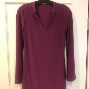 Komarov Plum Knit dress